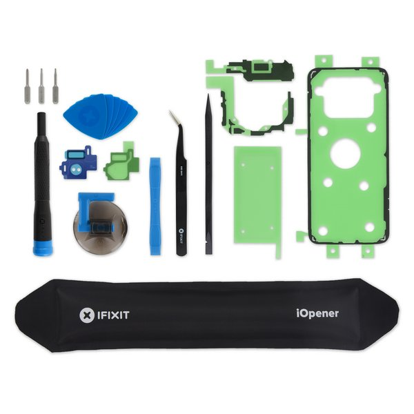 Galaxy S8 Rear Camera Bezel & Lens Cover / Blue / Fix Kit