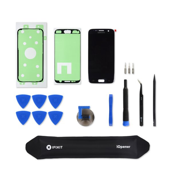 Galaxy S7 Screen and Digitizer / Black / Fix Kit
