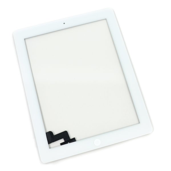 iPad 2 Front Glass/Digitizer Touch Panel Full Assembly / A-Stock / Part Only / White