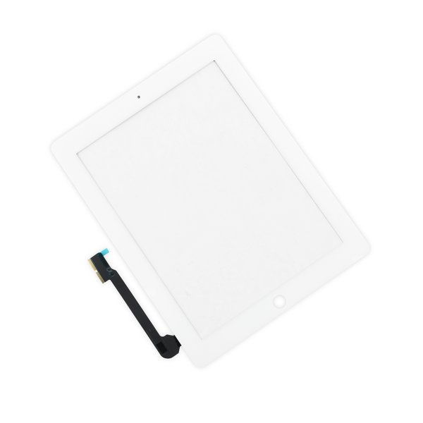 iPad 3/4 Digitizer Front Panel / New / Part Only / White / Without Adhesive Strips