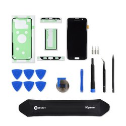 Galaxy S7 Edge Screen and Digitizer / Black / Fix Kit