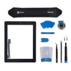 iPad 4 Screen / All-New / Fix Kit / Black