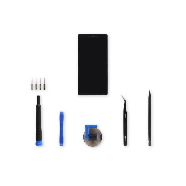 Huawei P8 LCD Screen and Digitizer Assembly / Black / Fix Kit