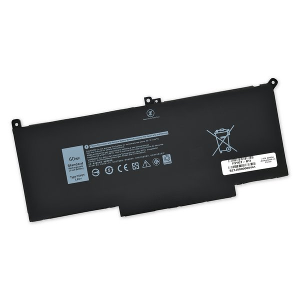 Dell Latitude 7280 and 7480 Replacement Battery / Part Only / 60Wh
