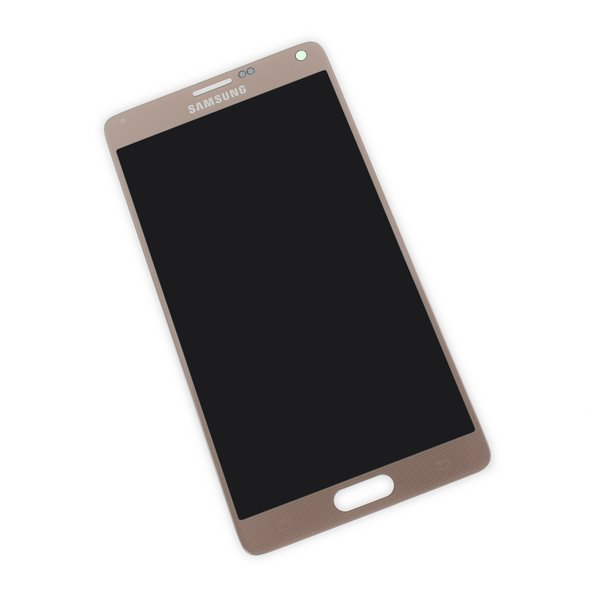 Galaxy Note 4 LCD Screen and Digitizer / Gold / New / Part Only