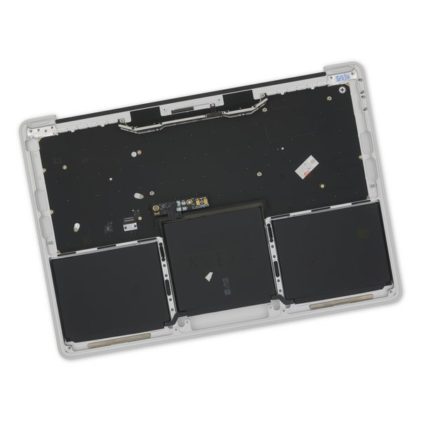 """MacBook Pro 13"""" Retina (Function Keys, Late 2016-2017) Upper Case Assembly / A-Stock / Silver / With Battery / No Trackpad"""