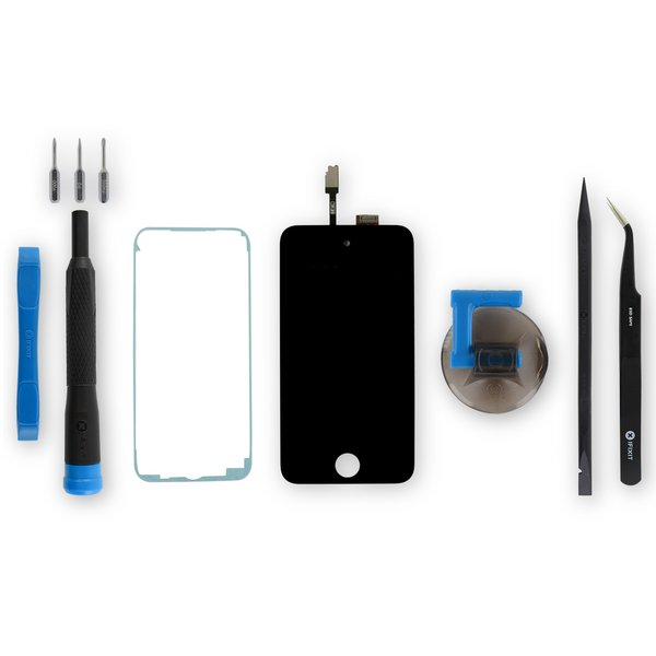 iPod touch (4th Gen) Screen / Fix Kit / Black / New