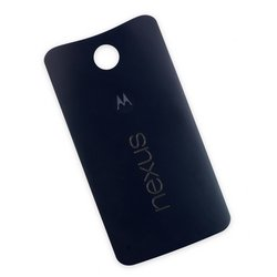 Nexus 6 Rear Panel / Black / A-Stock