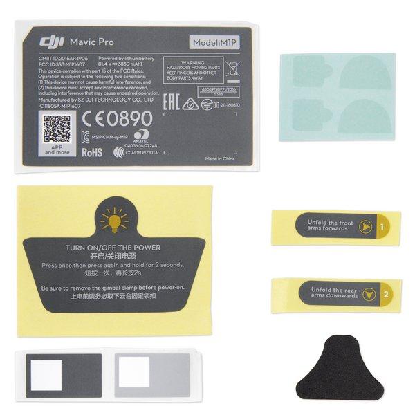 DJI Mavic Pro Exterior Sticker Set