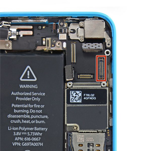iPhone 5c Front Camera and Sensor FPC Connector