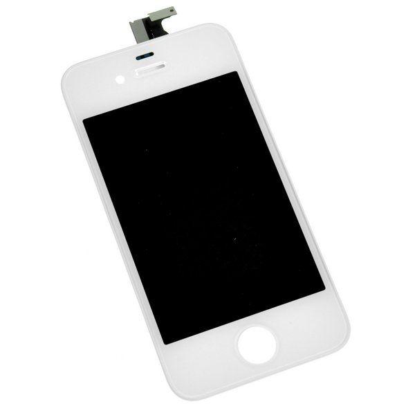 iPhone 4 LCD Screen and Digitizer (GSM/AT&T) / Part Only / White / A-Stock