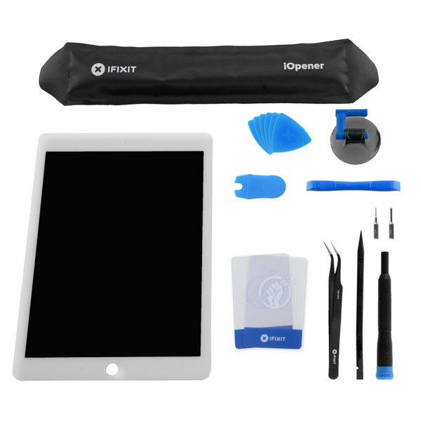 iPad Air 2 LCD Screen and Digitizer / New / New Fix Kit / White