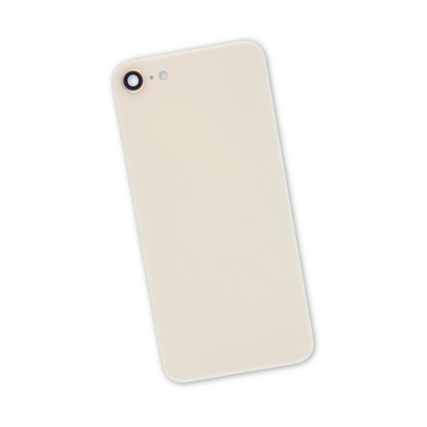 iPhone 8 Aftermarket Blank Rear Glass Panel with Camera Lens / Gold
