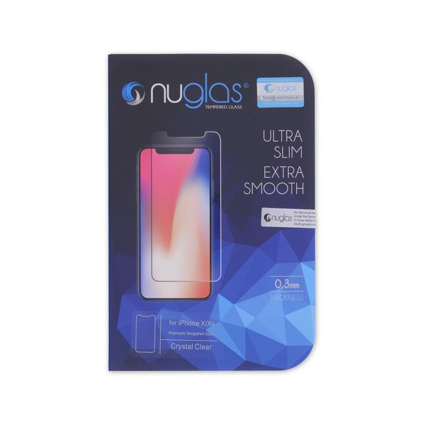 NuGlas Tempered Glass Screen Protector for iPhone X/XS