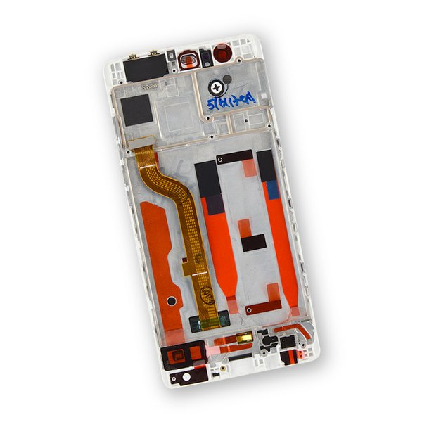 Huawei P9 LCD Screen and Digitizer Assembly / White / Part Only