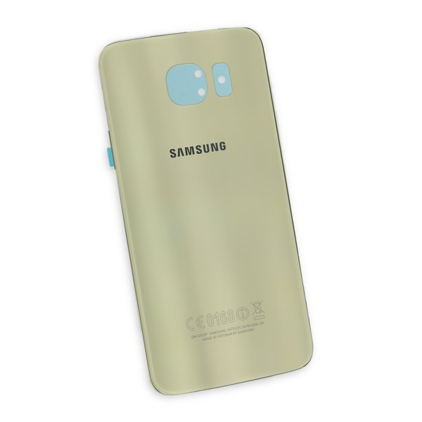 Galaxy S6 Rear Glass Panel/Cover - Original / Gold / Part Only