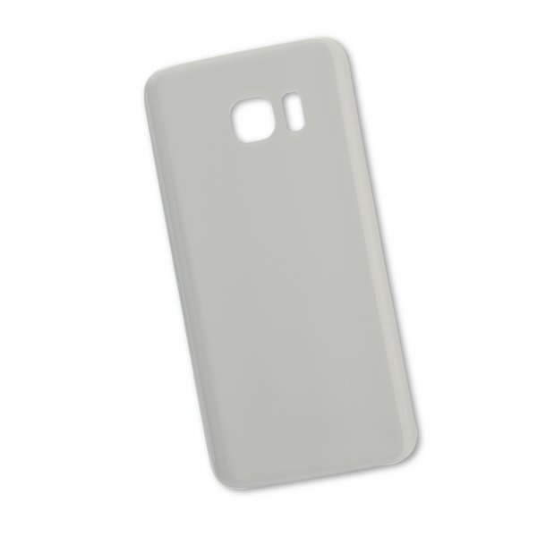 Galaxy S7 Edge Aftermarket Blank Rear Panel / Silver / Part Only