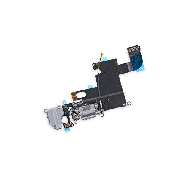 iPhone 6 Lightning Connector and Headphone Jack / Gray / New / Part Only