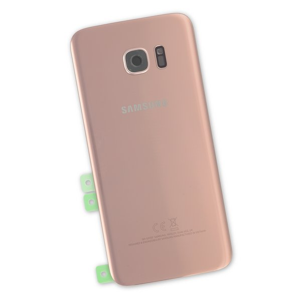 Galaxy S7 Edge Rear Glass Panel / Rose Gold