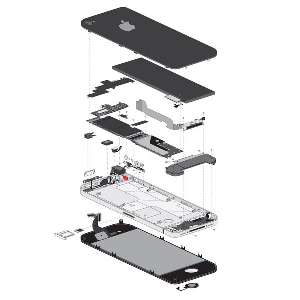 iPhone 4 Vibrate/Ring Switch (GSM/AT&T)