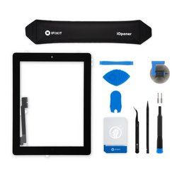 iPad 4 Screen Digitizer Assembly / New / Fix Kit / Black