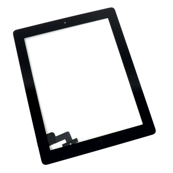 iPad 2 Screen Digitizer Assembly / A-Stock / Part Only / Black