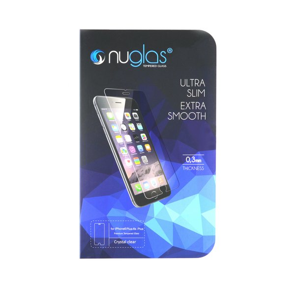 NuGlas Tempered Glass Screen Protector for iPhone 6 Plus/6s Plus
