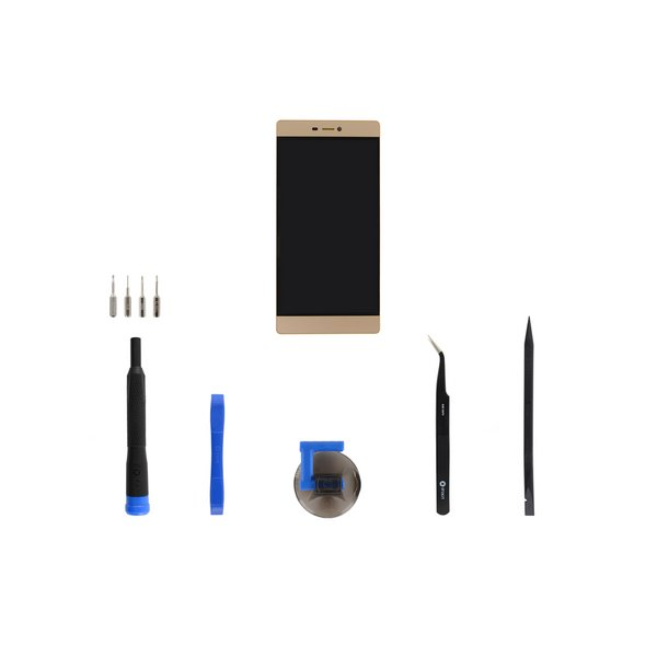 Huawei P8 LCD Screen and Digitizer Assembly / Gold / Fix Kit