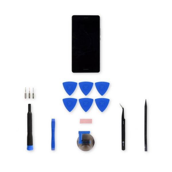 Huawei P9 Lite Screen / Black / Fix Kit