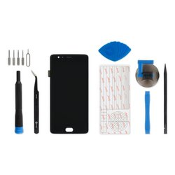 OnePlus 3 Screen / Fix Kit / Black