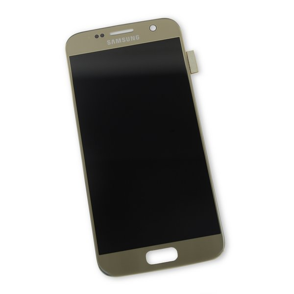 Galaxy S7 LCD Screen and Digitizer / Gold / Part Only