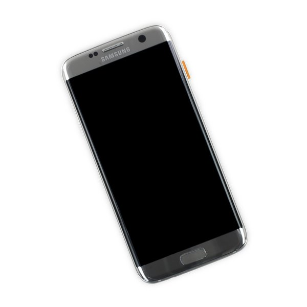 Galaxy S7 Edge LCD Screen and Digitizer Assembly (AT&T) / Silver / New