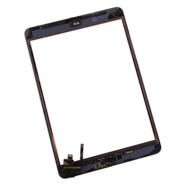 iPad mini 3 Front Panel Digitizer with Home Button / Gold / A-Stock / Part Only