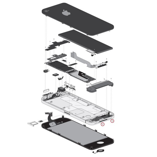 iPhone 4/4S Bottom Screws