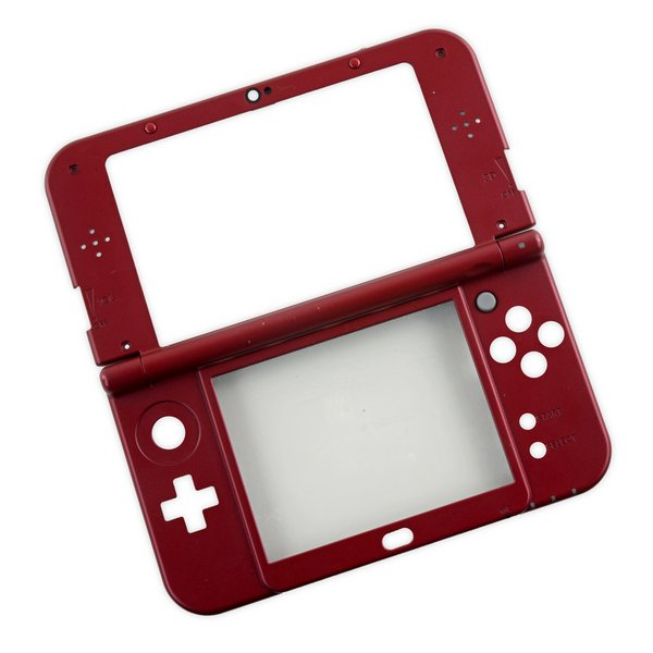 Nintendo 3DS XL (2015) Midframe & Digitizer / Red / A-Stock