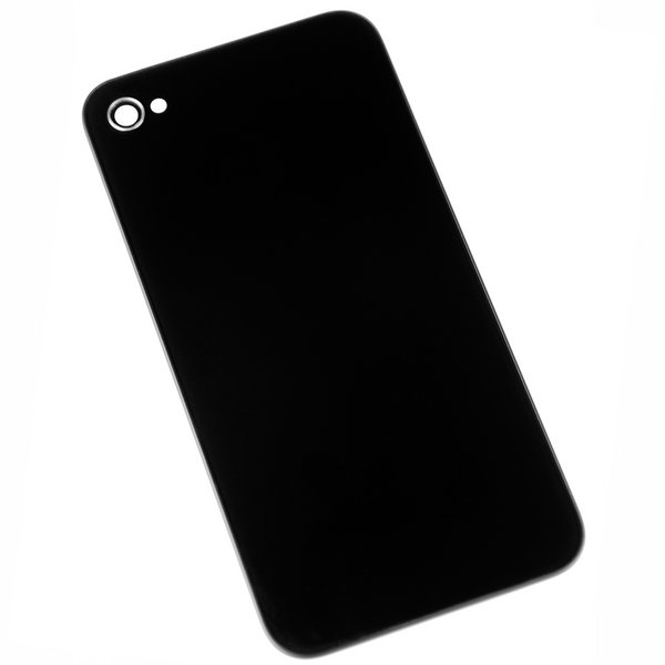 iPhone 4 (CDMA/Verizon) Blank Rear Glass Panel / Part Only / Black