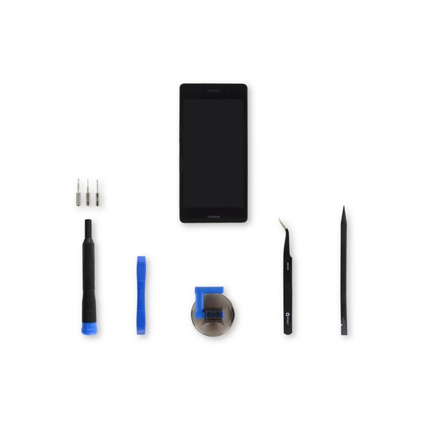 Huawei P8 Lite LCD Screen and Digitizer Assembly / Black / Fix Kit