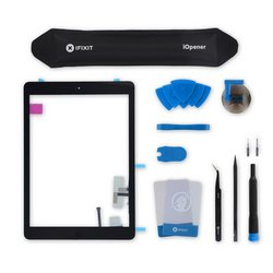 iPad Air Screen Digitizer / Fix Kit / Black