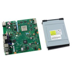 Xbox 360 S Motherboard and Paired Optical Drive