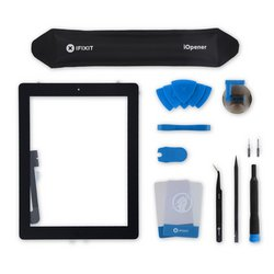 iPad 3 Screen Digitizer Assembly / All-New / Fix Kit / Black