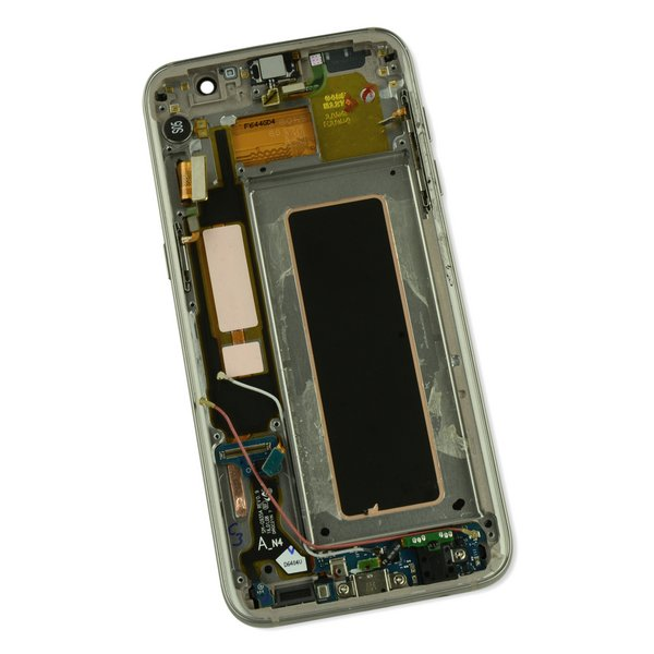 Galaxy S7 Edge LCD Screen and Digitizer Assembly (AT&T) / Gold / A-Stock