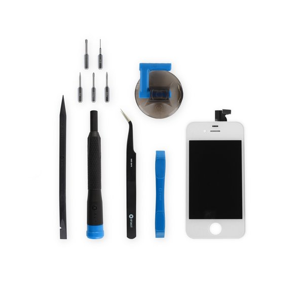 iPhone 4S Screen / New / Fix Kit / White