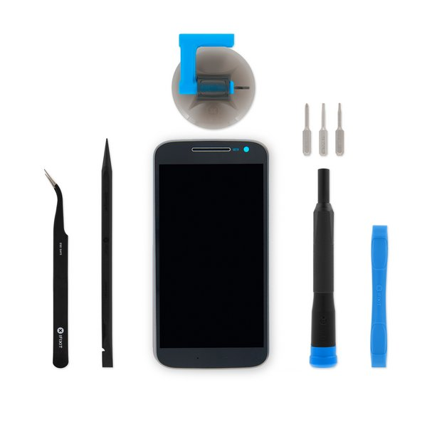 Moto G4 Screen / Black / Fix Kit v2