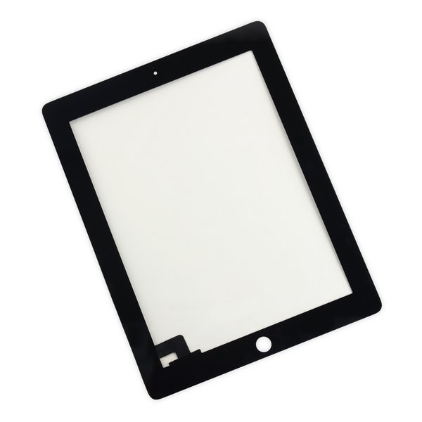 iPad 2 Digitizer Front Panel / New / Part Only / Black / Without Adhesive Strips
