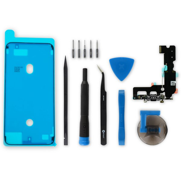 iPhone 7 Plus Lightning Connector Assembly / Black / New / Fix Kit