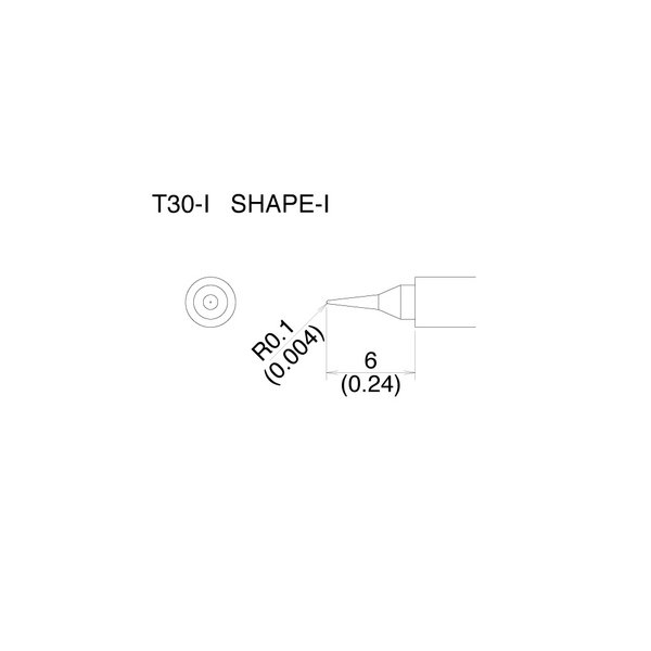 T30 Series tips fit Hakko FM-2032 Soldering Iron / T30-I / Tiny Pointed Tip