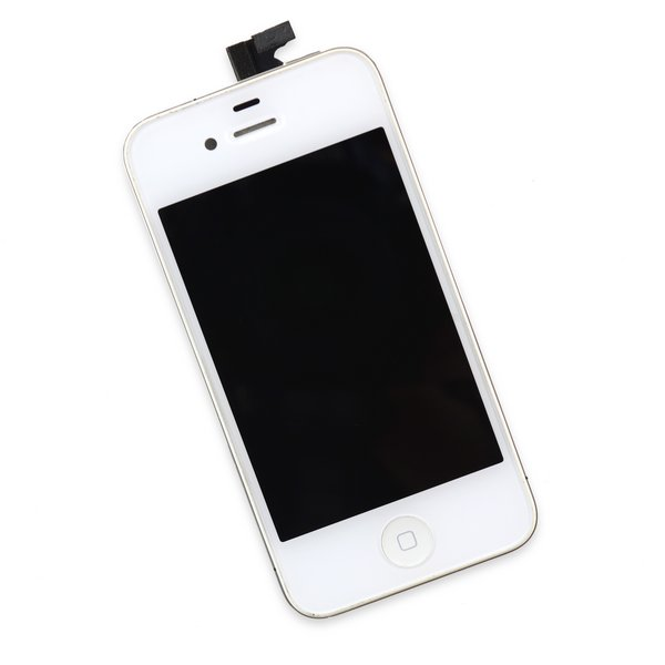 iPhone 4 GSM Screen Assembly / White / A-Stock