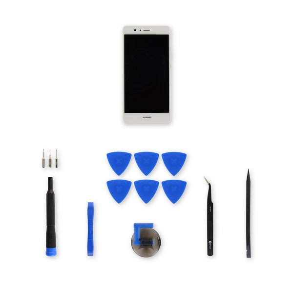 Huawei P9 Lite LCD Screen and Digitizer Assembly / White / Fix Kit