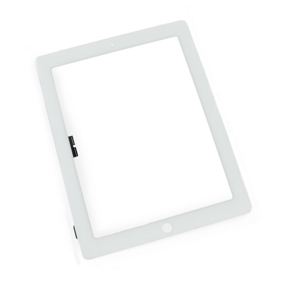 iPad 3/4 Front Glass/Digitizer Touch Panel / Used / Part Only / White / Without Adhesive Strips