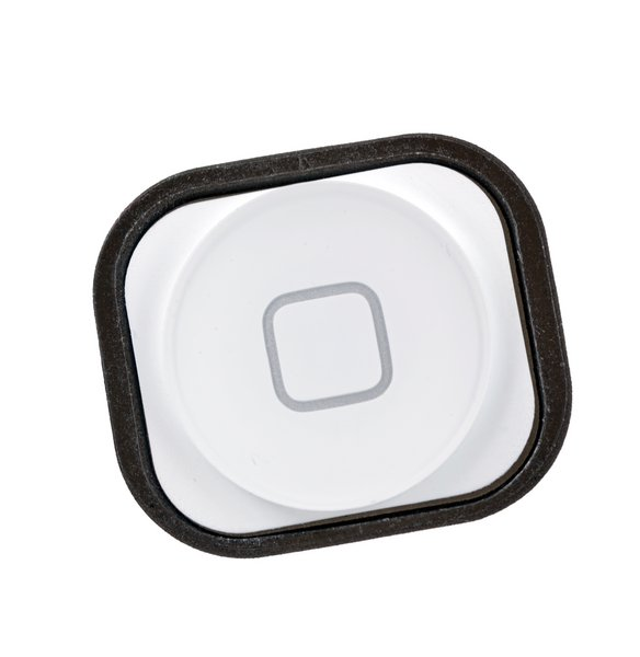 iPhone 5 and 5c Home Button / Used / White / Part Only